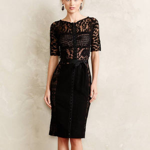 Anthropolgie Carissima Sheath Dress Black Size 0